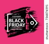 black friday sale grunge poster ... | Shutterstock .eps vector #736876591