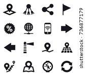 16 vector icon set   pointer ... | Shutterstock .eps vector #736877179