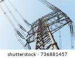 substation equipment and dense... | Shutterstock . vector #736881457