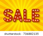sale message with shining light ... | Shutterstock .eps vector #736882135