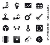16 vector icon set   investment ... | Shutterstock .eps vector #736883359