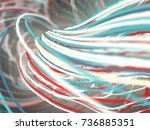 abstract colored strands. lines ... | Shutterstock . vector #736885351