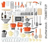 kitchen tool collection  ... | Shutterstock .eps vector #736887319