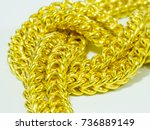 background of gold ornament... | Shutterstock . vector #736889149
