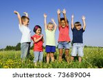 multi ethnic group of children... | Shutterstock . vector #73689004