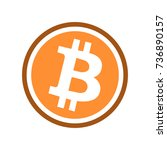 bitcoin symbol logo  flat line... | Shutterstock .eps vector #736890157