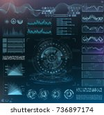 vector futuristic interface hud ...