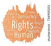 vector conceptual human rights... | Shutterstock .eps vector #736900201
