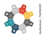 vector circle arrows gear... | Shutterstock .eps vector #736900249
