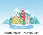Vector Flat Winter Christmas...