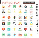 vector set of flat startup and... | Shutterstock .eps vector #736902421