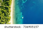 aerial bird's eye view photo... | Shutterstock . vector #736905157