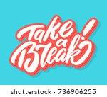 take a break.  | Shutterstock .eps vector #736906255