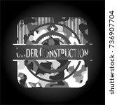 under construction on grey... | Shutterstock .eps vector #736907704