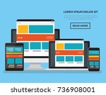 responsive computer concept... | Shutterstock .eps vector #736908001