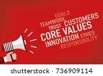 core values concept | Shutterstock .eps vector #736909114