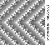 design seamless monochrome... | Shutterstock .eps vector #736909771