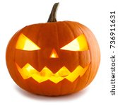 Stock photo halloween pumpkin isolated on white background 736911631