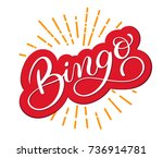 bingo word. beautiful greeting... | Shutterstock .eps vector #736914781