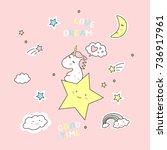 vector illustration of cute... | Shutterstock .eps vector #736917961