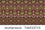 knitted pattern | Shutterstock .eps vector #736923715