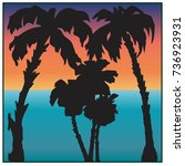 palm tree color vector image of ...   Shutterstock .eps vector #736923931