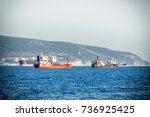 ships go to sea | Shutterstock . vector #736925425