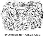 vector hand drawn business...   Shutterstock .eps vector #736937317