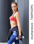 Fitness Sporty Woman During...