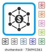 financial network icon. flat...