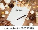 letter to santa claus. gift.... | Shutterstock . vector #736945909