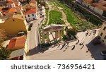 aerial birds eye view photo...   Shutterstock . vector #736956421