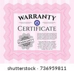 pink formal warranty...   Shutterstock .eps vector #736959811
