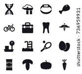 16 vector icon set   dna ...   Shutterstock .eps vector #736959931