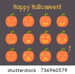 vector illustration  set of... | Shutterstock .eps vector #736960579