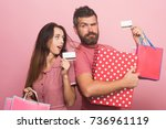 couple in love holding big box...   Shutterstock . vector #736961119
