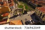 aerial birds eye view photo...   Shutterstock . vector #736962049