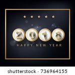 happy new year 2018 greeting... | Shutterstock .eps vector #736964155