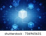 2d illustration health care and ... | Shutterstock . vector #736965631