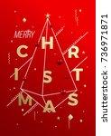 merry christmas abstract vector ...   Shutterstock .eps vector #736971871