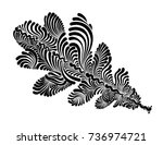 decorative graphic tree leaf... | Shutterstock .eps vector #736974721