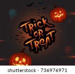 halloween trick or treat... | Shutterstock .eps vector #736976971