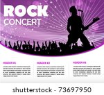 star singer and the crowd of... | Shutterstock .eps vector #73697950