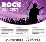 star singer and the crowd of... | Shutterstock .eps vector #73697956