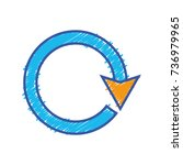 color arrow circle sign loading ... | Shutterstock .eps vector #736979965