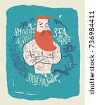 sailor illustration with type | Shutterstock .eps vector #736984411