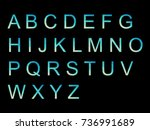 vector alphabet set geometric... | Shutterstock .eps vector #736991689