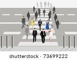 vector illustration of people...   Shutterstock .eps vector #73699222
