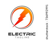 electric logo design | Shutterstock .eps vector #736992991