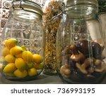 closeup image of kitchen... | Shutterstock . vector #736993195